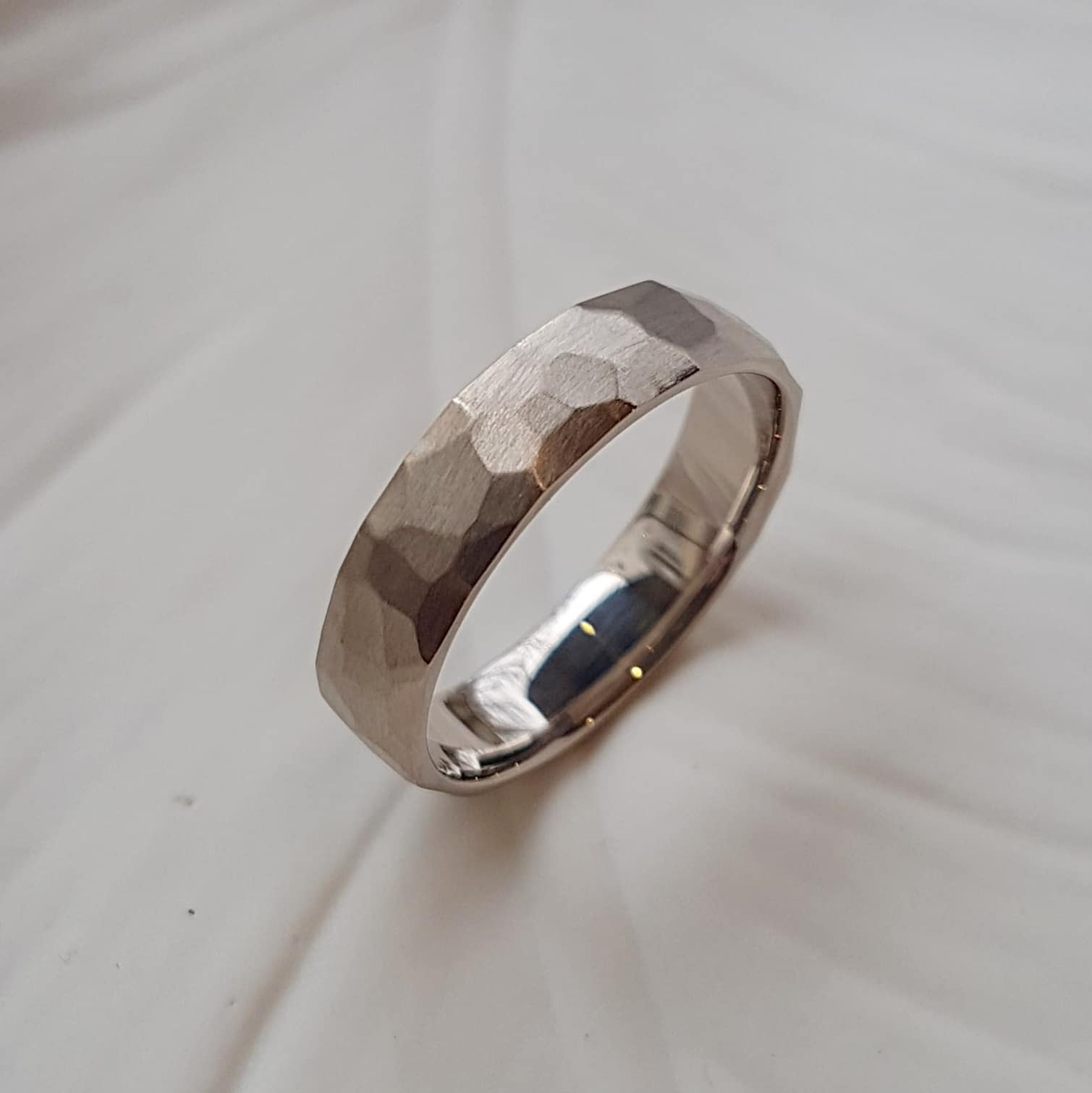 bague or gris homme