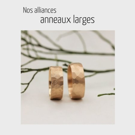 Alliances mariage larges