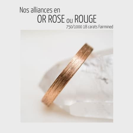 Alliances or rose ou rouge